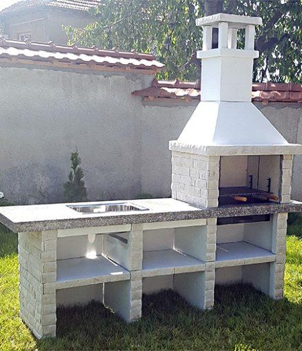 Барбекю Калина с мивка и плот